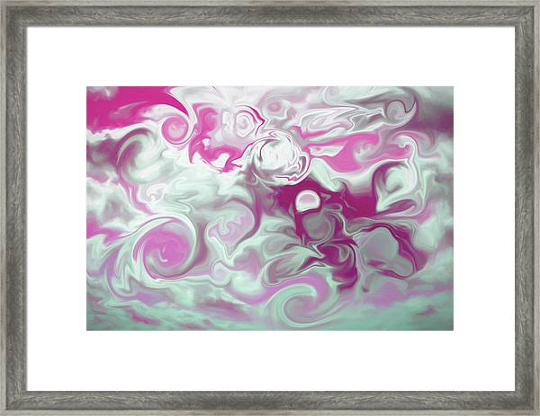 Swirly Skies Framed Print