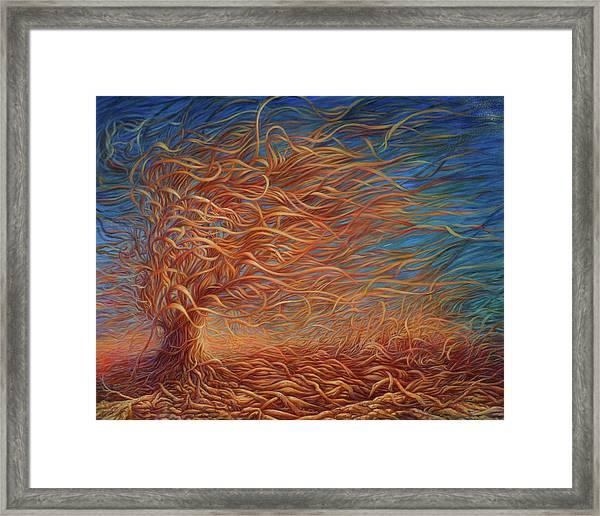 Swirly Tree 2 Framed Print