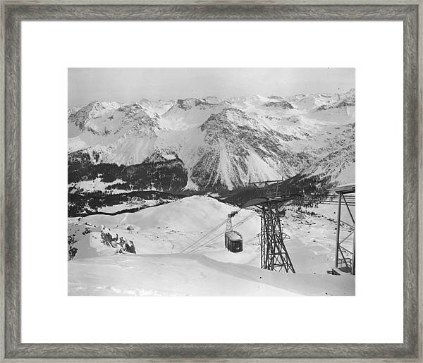 Swiss Cable Car Framed Print by Vanderson