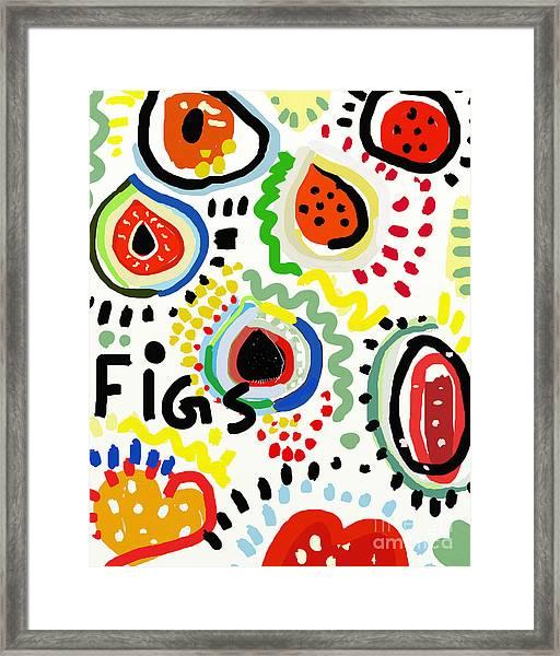 Symbolic Image Of Fig Fruits Framed Print