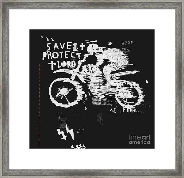 Symbolic Image Of The Bike For Motocross Framed Print