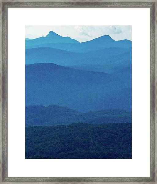 Table Rock And Hawksbill  Mountain - Linville North Carolina - Blue Ridge Parkway Framed Print