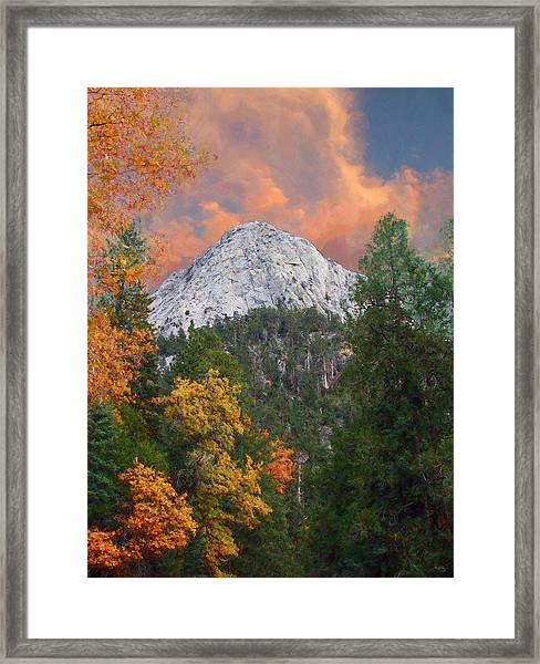 Tahquitz Peak - Lily Rock Painted Version Framed Print