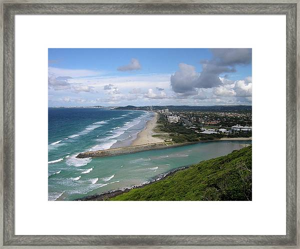 Tallebudgera Palm Beach Framed Print