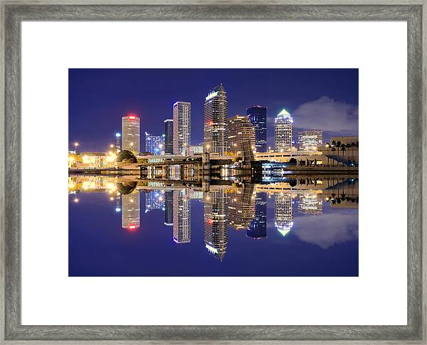 Tampa Bay Skyline Framed Print