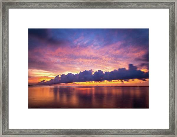 Tampa Bay Sunrise Framed Print