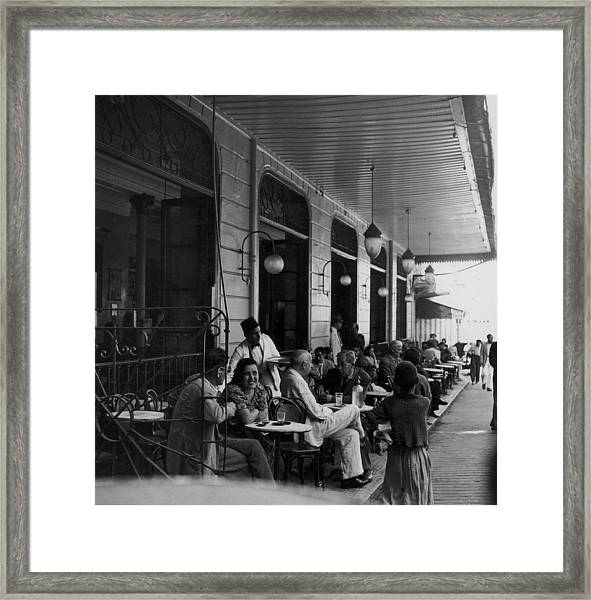 Tangier Cafe Framed Print