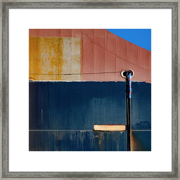 Tanker In Dry Dock Framed Print