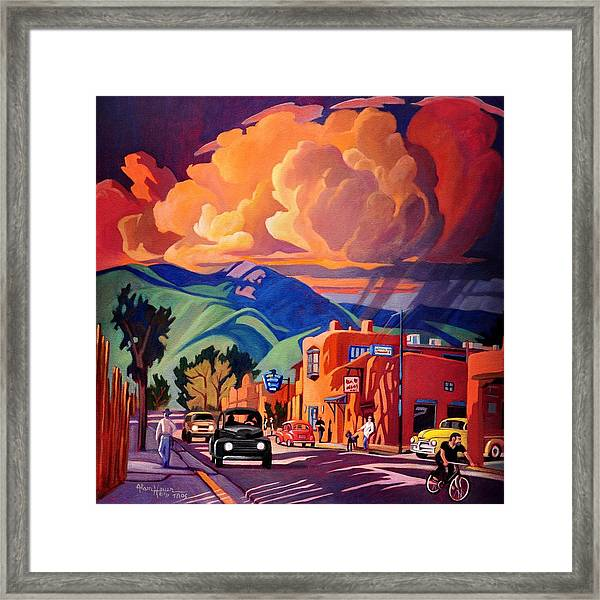 Taos Inn Monsoon Framed Print