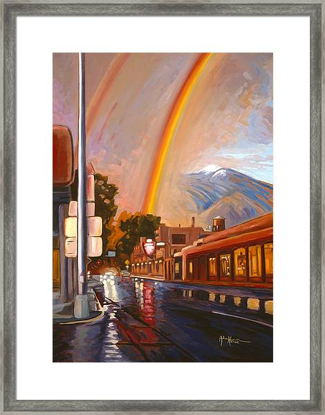 Taos Rainbow Framed Print