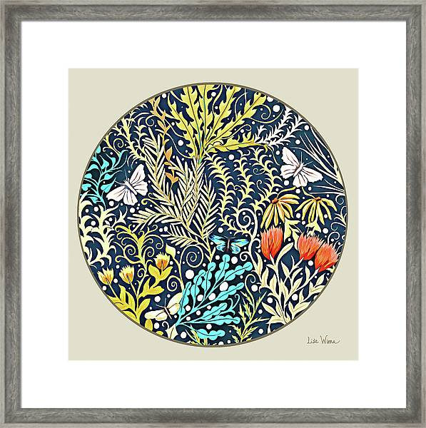 Tapestry Design Button Framed Print