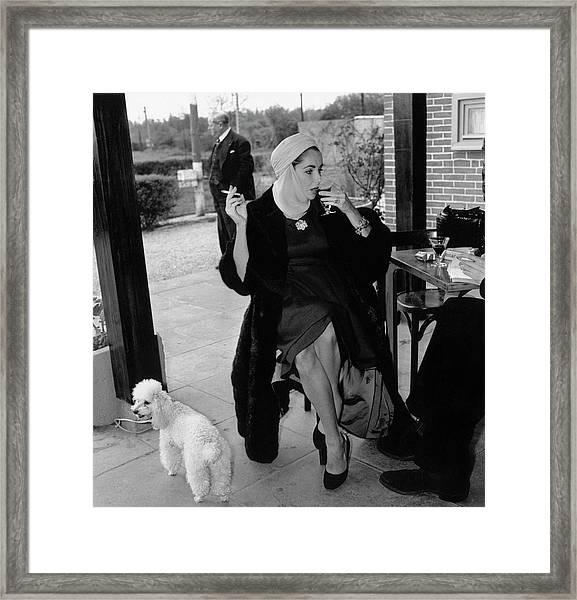 Taylor And Poodle Framed Print