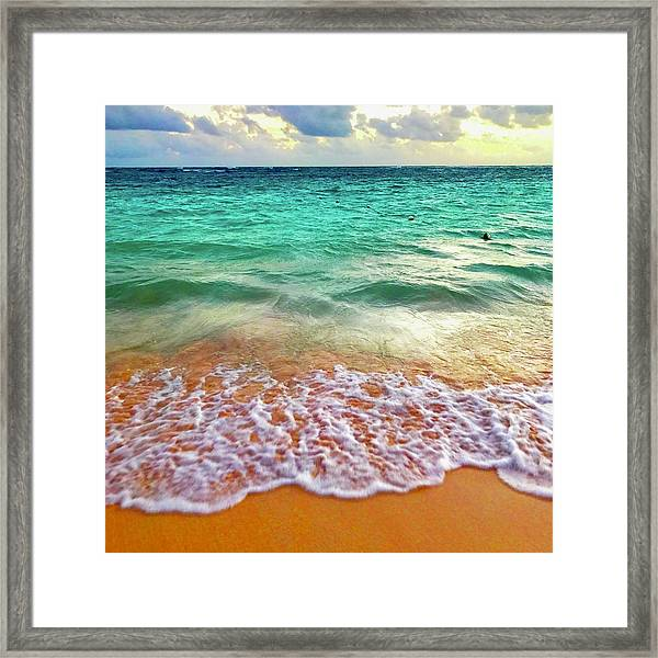 Teal Shore  Framed Print