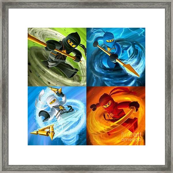 Team Ninjago Framed Print