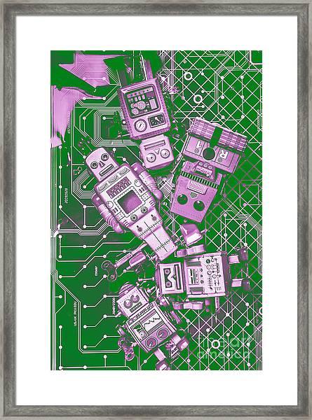 Tech Borg Centre Framed Print