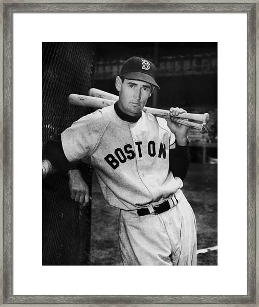 Ted Williams Framed Print