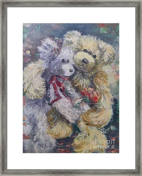 Teddy Bear Honeymooon Framed Print
