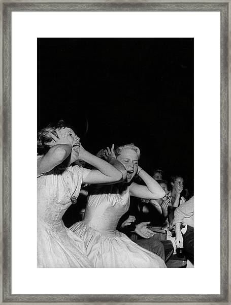 Teenagers Screaming And Yelling During Framed Print