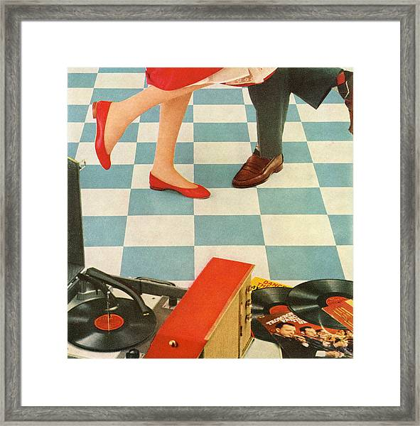 Teens Dancing To Party Music Framed Print