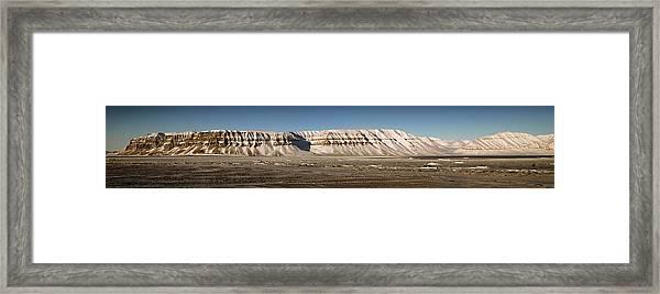 Tempelfjord Svalbard Framed Print