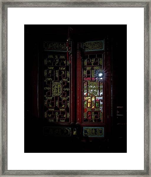Framed Print featuring the photograph Temple Doorway On Old West Street by William Dickman