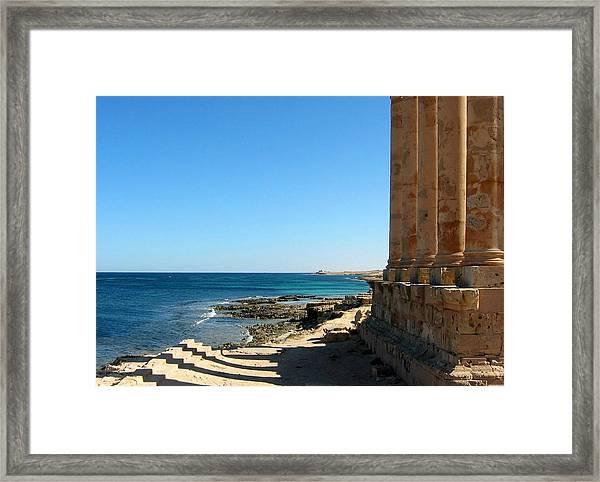 Temple Of Isis, Sabratha, Libya Framed Print by Joe & Clair Carnegie / Libyan Soup