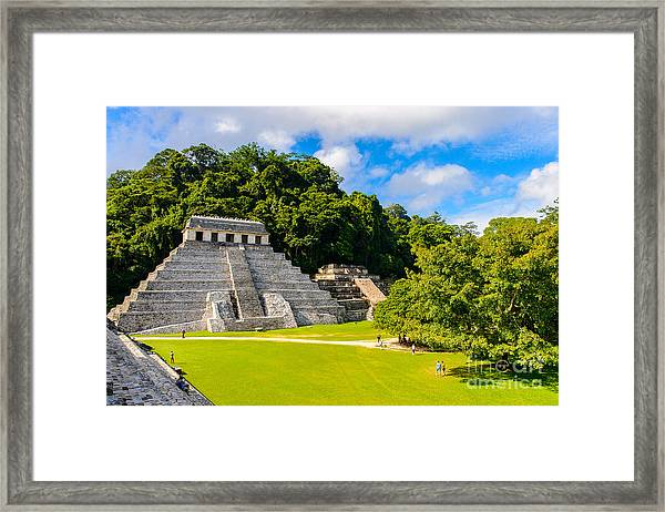 Temple Of The Inscriptions, Palenque Framed Print