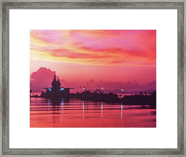 Temple On The Sea Framed Print