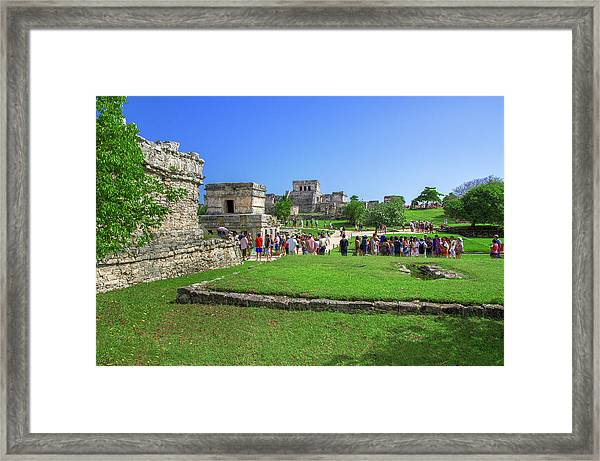 Temples Of Tulum Framed Print