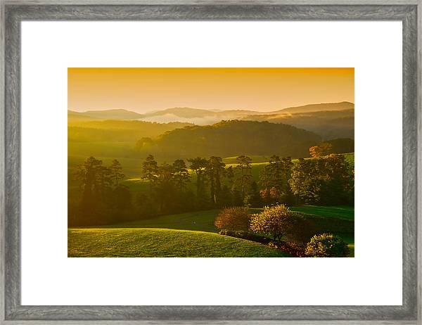 Smokey Mountain Sunrise Framed Print