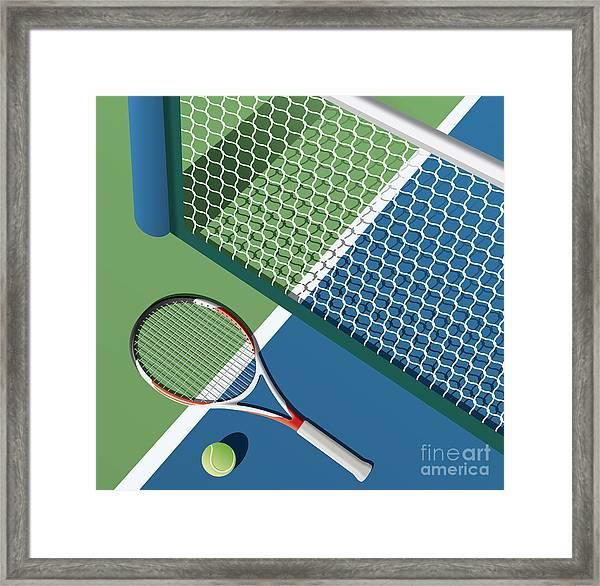 Tennis Court Framed Print