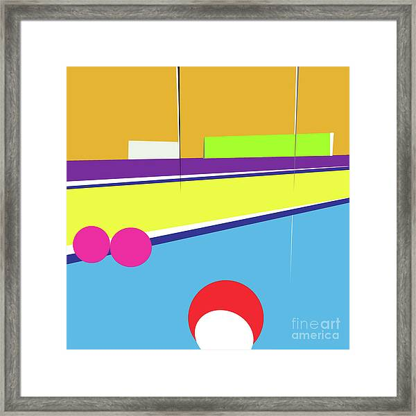 Tennis In Abstraction Framed Print