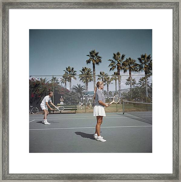 Tennis In San Diego Framed Print