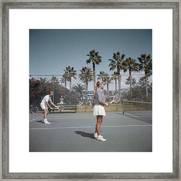 Tennis In San Diego Framed Print by Slim Aarons