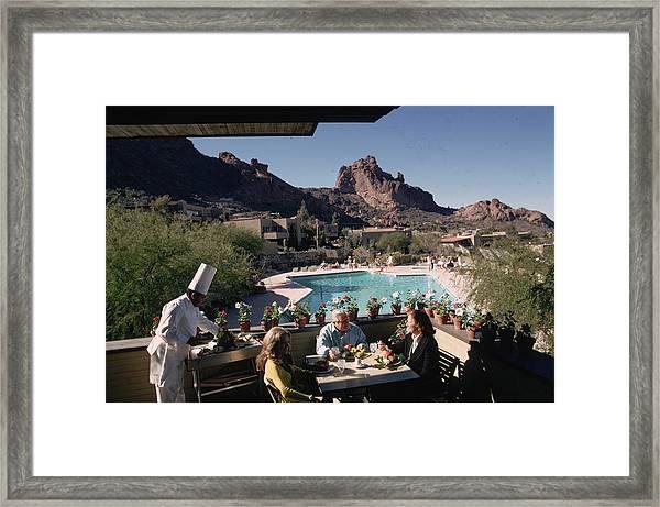 Tennis Ranch Framed Print
