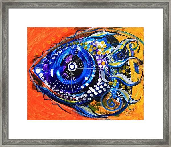Tenured Acrimonious Fish Framed Print