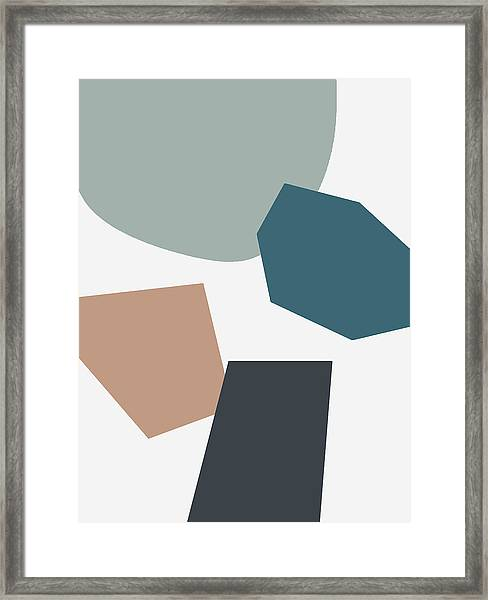 Terrazzo Abstract 1- Art By Linda Woods Framed Print