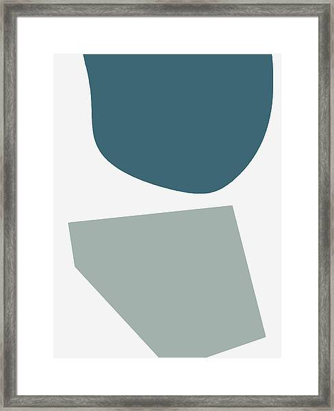 Terrazzo Abstract 2- Art By Linda Woods Framed Print