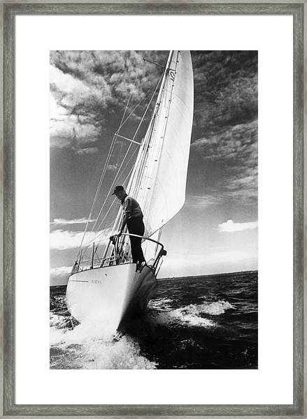 Test Sail Framed Print