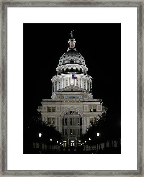 Texas Capitol II - Austin Framed Print by Borsheim
