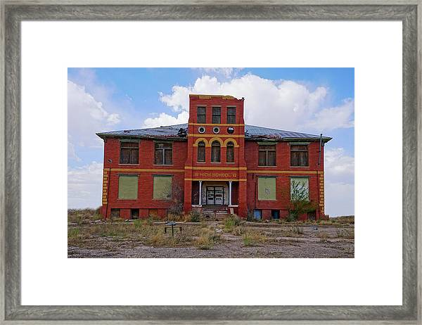 Texas Ghost Town School  Framed Print