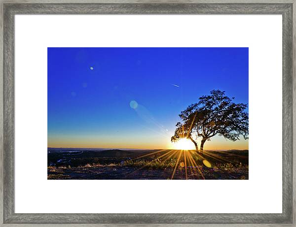 Texas Hill Country At Sunset Framed Print