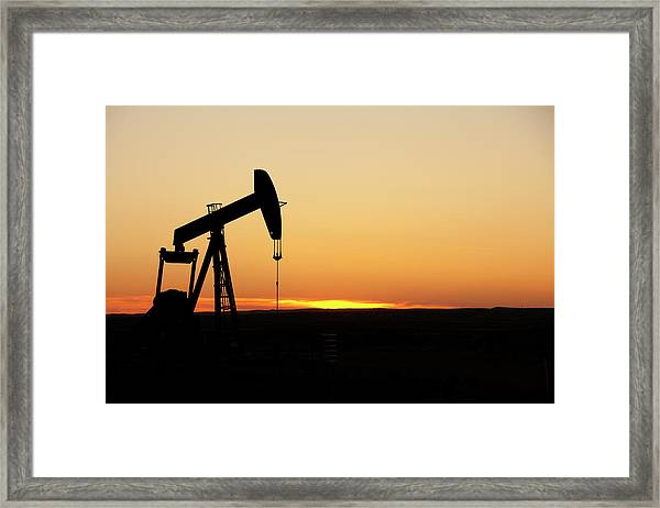 Texas Oil Well Framed Print by Clickhere