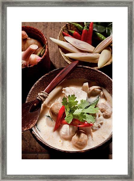 Thai Tom Kha Gai Soup Framed Print
