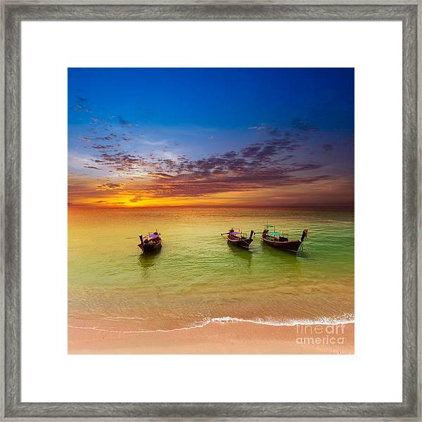 Thailand Nature Landscape. Tourism Framed Print