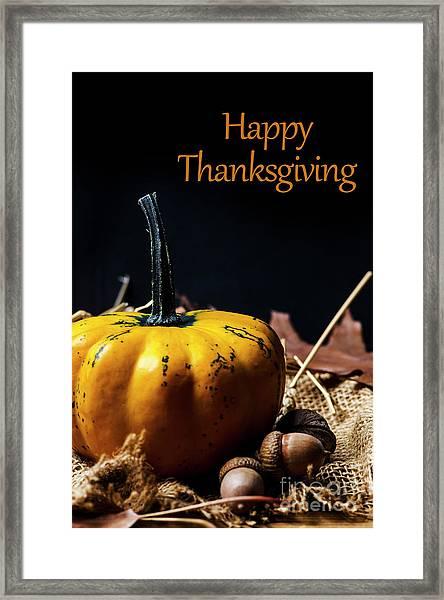 Thanksgiving Dinner Invitation Card. Framed Print