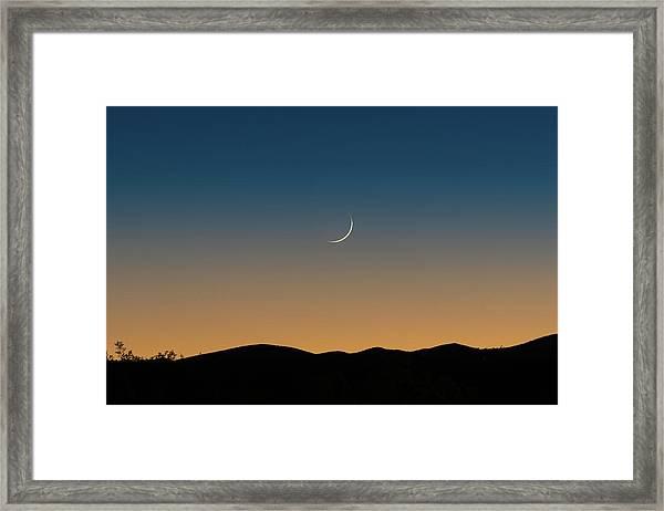 That Desert Moon Framed Print