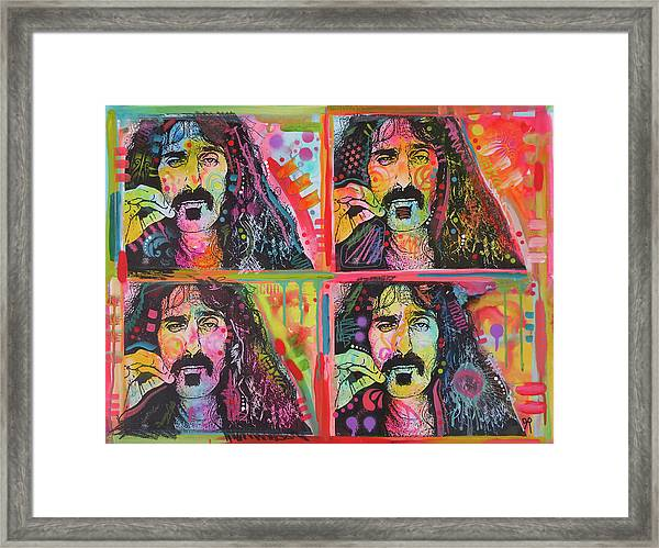 The 4 Zappas Framed Print by Dean Russo Art