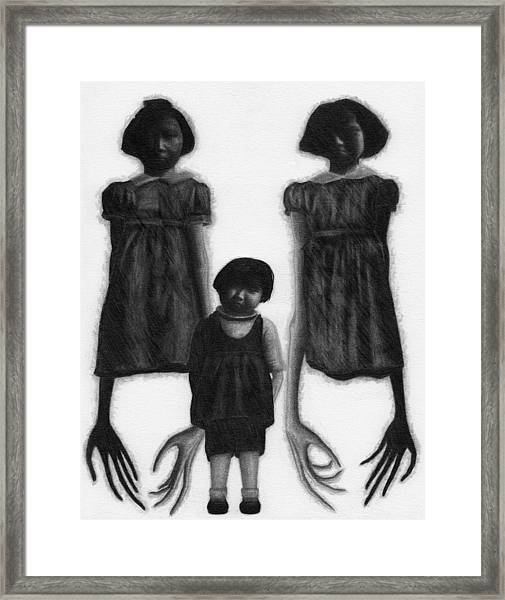 The Abberant Sisters - Artwork Framed Print