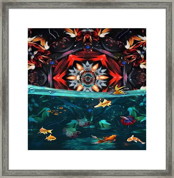The Abstract Fish Tomb Framed Print